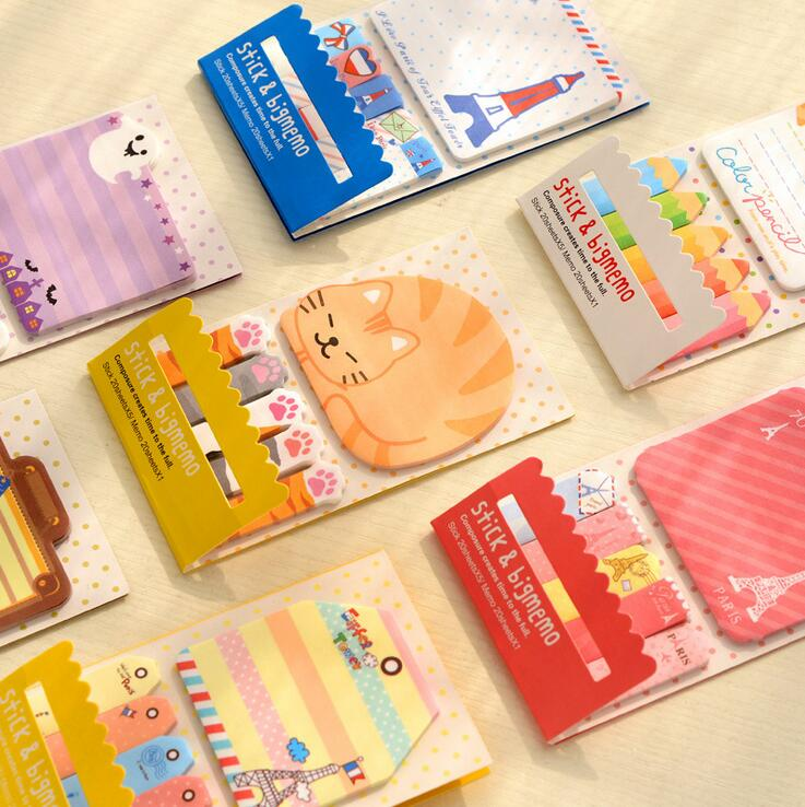 Cartoon Animals Lovely Mini Memo Pad Sticky Notes Shopping Check List Escolar Papelaria School Supply Label