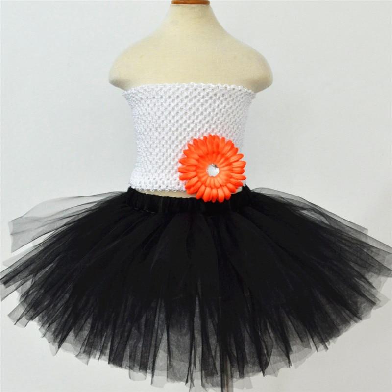 941f625d0 Falda tutú negra de alta calidad para niñas, falda de Ballet de tul  mullida, faldas de baile para ...