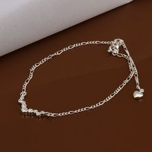 LKNSPCA016 Anklet silver plated anklet silver plated fashion jewelry anklet for modern women jewelry /