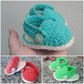 Summer baby shoes pattern - Crochet pattern baby sandals
