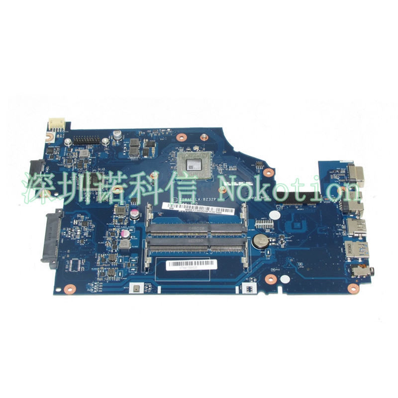 NOKOTION NBMLF11004 NB.MLF11.004 Z5WAE LA-B232P Laptop motherboard For acer aspire E5-521 A6-6310 Mainboard Works nbmny11002 nb mny11 002 for acer aspire e5 511 laptop motherboard z5wal la b211p n2940 cpu ddr3l