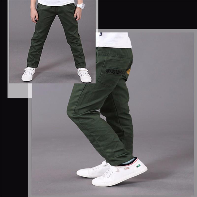 HTB1Q.79OVXXXXbZXVXXq6xXFXXXm - boys pants kids jeans 2018 casual Spring Solid Cotton Mid Elastic Waist Pants for Boy jeans kids Clothing Children Trousers p023