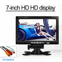 DC 12V 800 x 480 7 inch Car Monitor Bright Color HDMI Interface TFT LCD AV VGA Auto Rear View Monitor