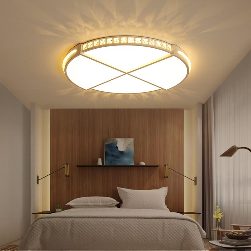 Crystal Acrylic Ceiling Chandelier Ultra-thin Dia 42/52cm Modern Led Chandelier Lighting for living room lustre luminaria цена