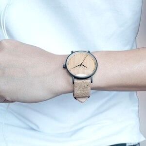 Image 5 - BOBO BIRD LE19 ไม้ไผ่ Dial แฟชั่นนาฬิกาไม้ Mujer ควอตซ์นาฬิกาหนังสแตนเลสนาฬิกาสำหรับสุภาพสตรี