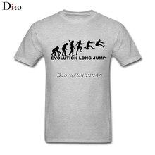 3983ada50cca Evolution Long Jump T Shirt Men Man s Personality Custom Short Sleeve  Valentine s Plus Size Party T