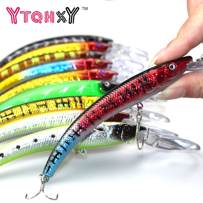 1PCS 15.5cm 15.3g Wobbler Fishing Lure Big Minnow Crankbait Peche Bass Trolling Artificial Bait Pike Carp lures YE-252 1pc wobbler fishing lures sea trolling minnow artificial bait carp 9cm 9 1g peche crankbait pesca fishing tackle zb207