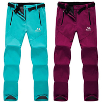Woman Softshell Outdoor Hiking Camping Pant Autumn Quick Dry Winter Fleece Sport Trousers Plus Size Fishing