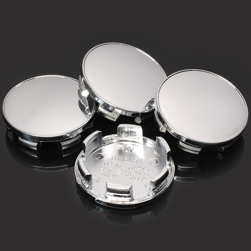 Image 5 - 4PCS Modified 54MM(53.5mm) fit 50mm Logo Car Hub Cover Car Wheel Center Cap Rim Ring Decorative Hubcap Chrome Silver ABS Plastic-in Wheel Center Caps from Automobiles & Motorcycles