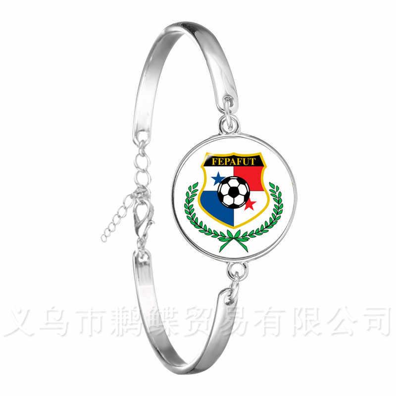2018 Fãs de Futebol Pulseira Argentina/Egito/Austrália/Panamá/Brasil/Bélgica/Alemanha/Dinamarca Nacional crachá de futebol Pulseira