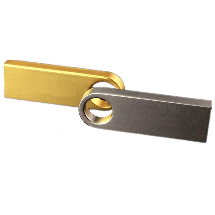 Usb Flash Drive 2.0 32GB Metal Black Pen Drive 16GB 64GB 128GB Waterproof Pendrive 8G Usb Stick Keychain Flash Memory Stick Gift 3