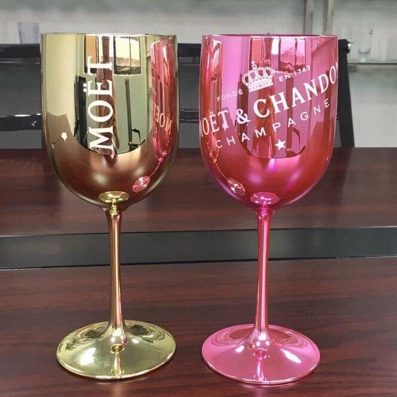 Plástico PARTIDO DO vinho Branco champagne Coupes MOET Taças de Champanhe de vidro copo de vinho copo de Cocktail de uma peça