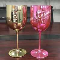 Plastic wine PARTY White champagne Coupes Cocktail glass MOET Champagne Flutes wine cup one piece