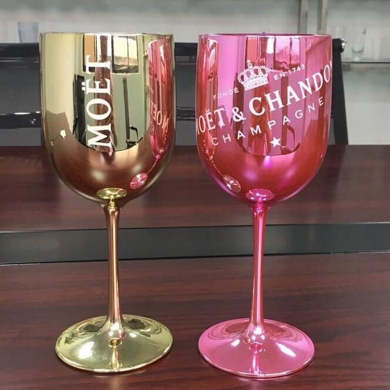 Vinho de plástico festa champanhe branco cupês cocktail moet champanhe flautas copo de vinho uma peça