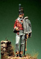 1/32 escala resina figura kit de construção britânico luz infantaria oficial