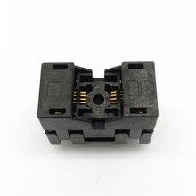 MSOP8 SSOP8 MSOP 8 SSOP 8 IC Test Buchse Pitch 0,65mm IC Körper Breite 3mm open top brennen in buchse programmierung buchse