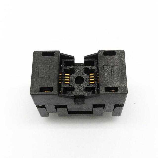 MSOP8 SSOP8 MSOP 8 SSOP 8 IC Test Socket Pitch 0.65mm IC Body Breedte 3mm open top burn in socket programmeren socket