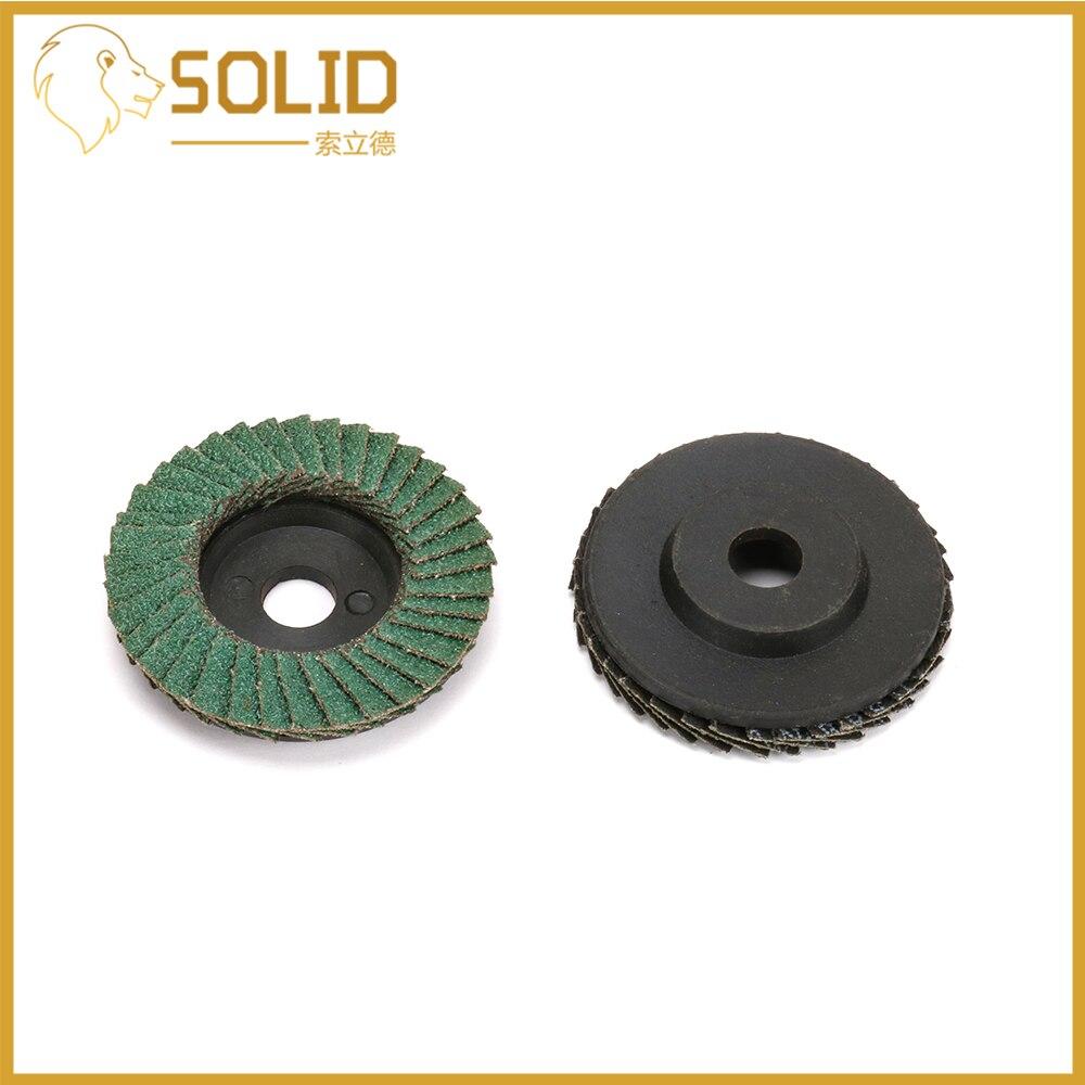 """50mm 2/"""" Flap Sanding Disc Metal Grinding Wheel for Angle Grinder 80 Grit 10Pcs"""