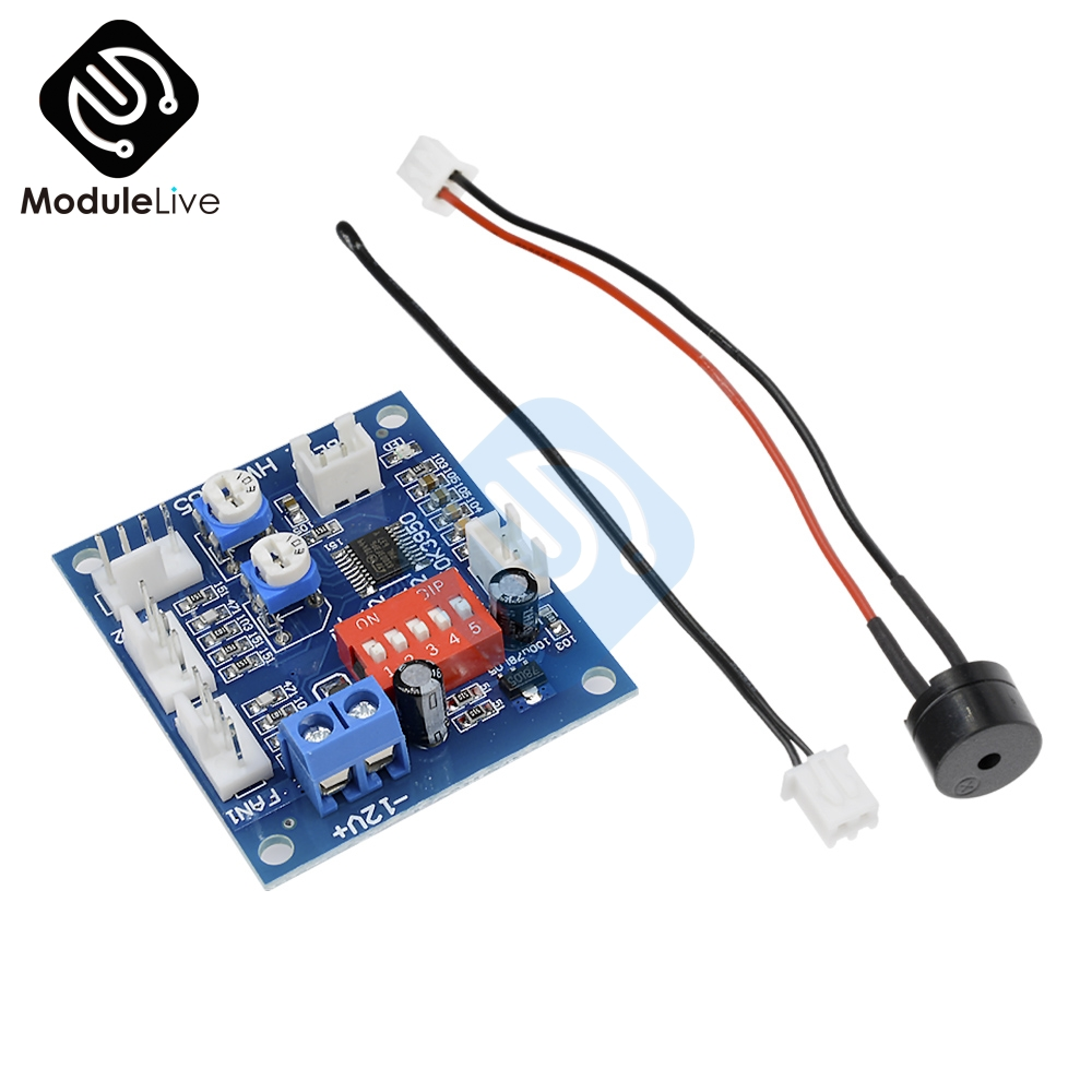 NTC 3950 Thermistor PWM Temperature Probe Speed Controller Board Control Module Buzzer DC 12V 5A CPU Fan High-Temp Alarm 50k dc 12v 5a pwm pc fan temperature manumotive speed controller module cpu high temp alarm with buzz probe for arduino heat sink