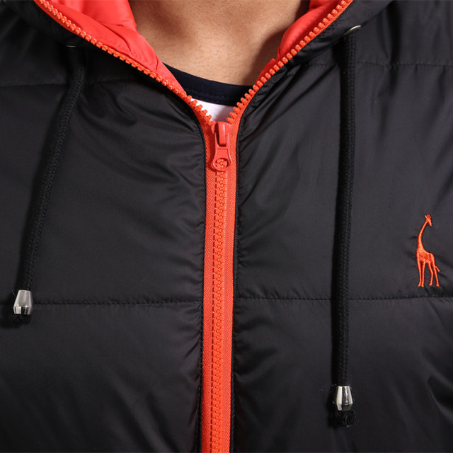 GustOmerD New Waterproof Winter Coat Parka Men Warm Cotton Outwear Winter Jacket Men Clothing Deer Embroidery Casual Zipper Coat