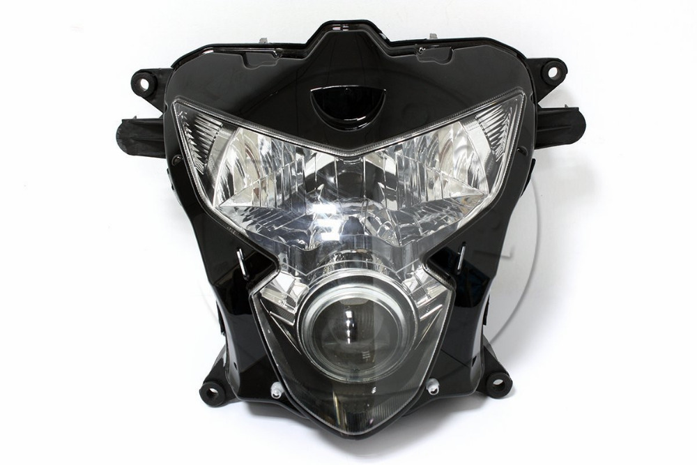Motorcycle Front Headlight For SUZUKI GSXR 600 750 GSXR600 GSXR750 2004 2005 K4 Head Light Lamp Assembly Headlamp Lighting Parts for suzuki gsxr600 gsxr750 gsxr 600 750 k4 tank side cover panels fairing 2004 2005 2pcs carbon fiber motorcycle parts