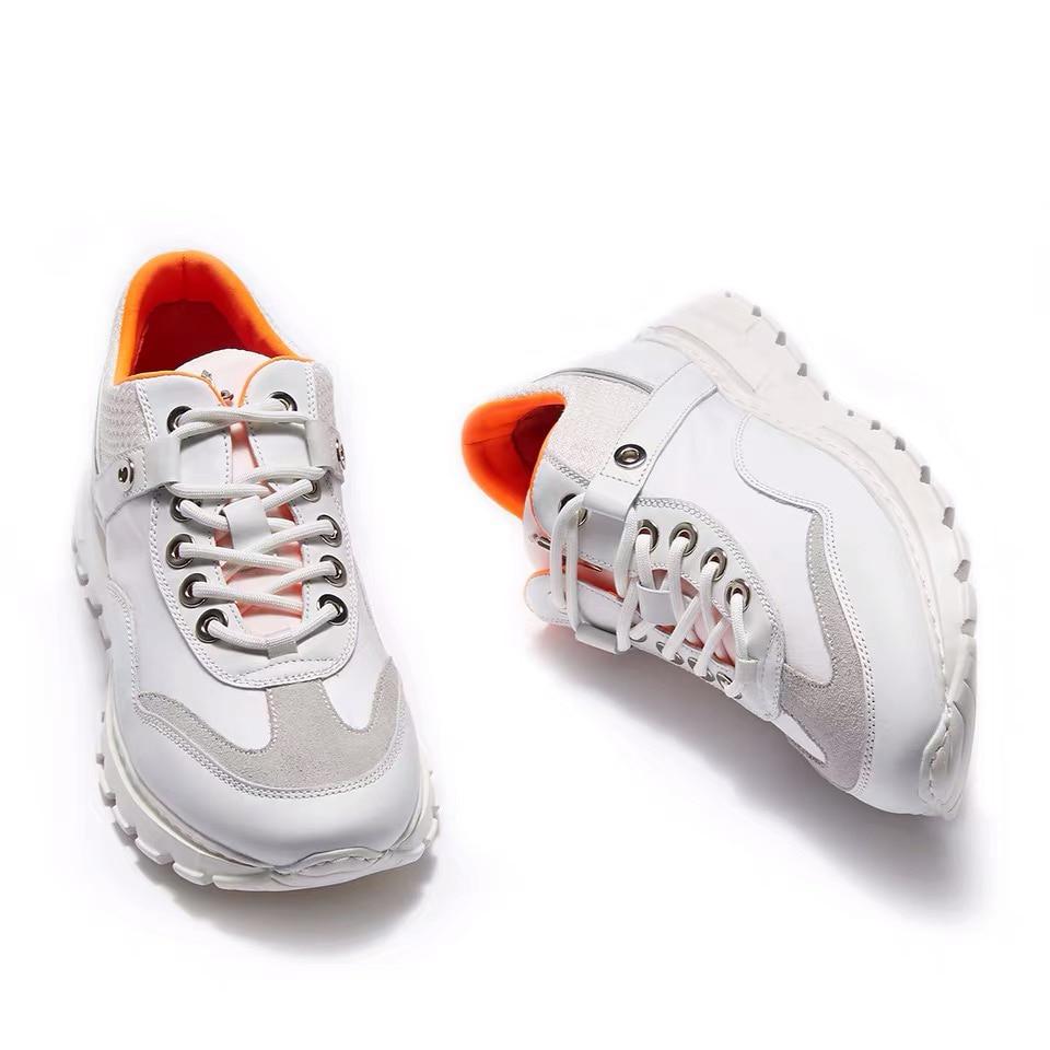 Delivr Wit Sneakers Mannen Unisex Dikke Zool Ademend Gevulkaniseerd Schoenen Masculino Adulto Papa Schoenen Hoge Platform Sneakers Mannen - 5