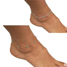 Women Girls Handmade Bead Chain Anklet Foot Leg Chain Bracelet Jewelry Fast Free Shipping Gold Silver New Hot Selling