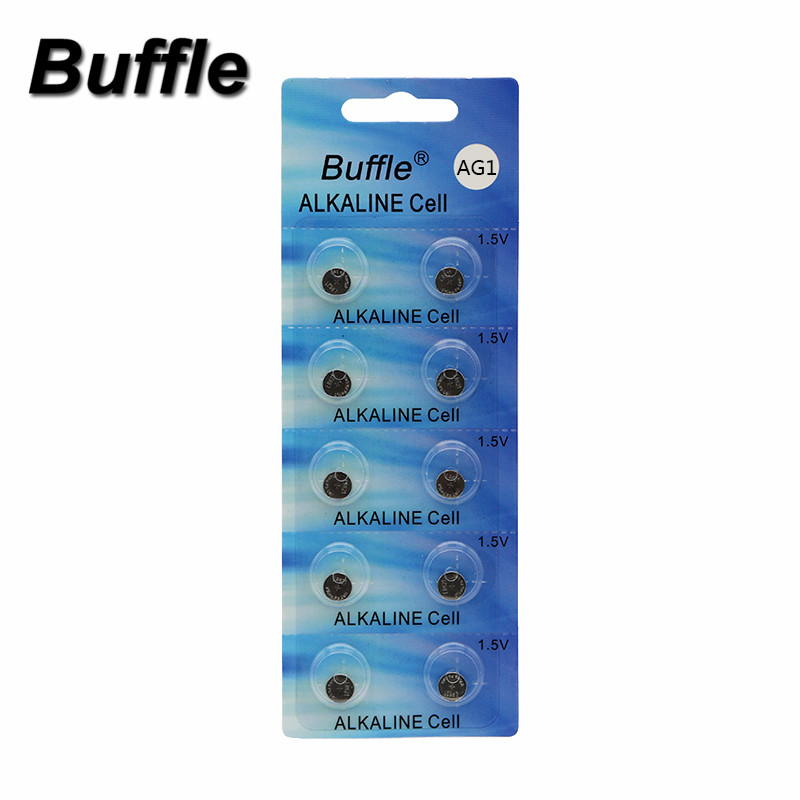 Buffle New AG1 10pcs lot LR621 364 164 531 SR621 SR621SW SR60 SP364 TR621 Watch Coin Battery in Button Cell Batteries from Consumer Electronics