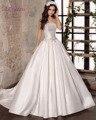 Loverxu Романтичное Без Бретелек Кружева Линии Свадебные Платья 2016 старинные Лук Пояса Атласная Невесты Платье Robe De Брак Плюс размер