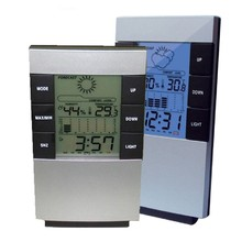 Fashion Clock Measurement Device Multifunctional Home Humidity Thermometer Lcd Digital Hygrometer Temperature Meter