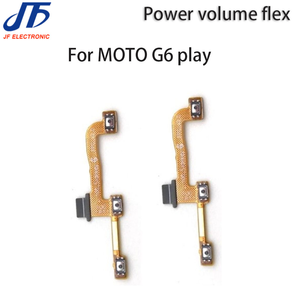 50Pcs For Motorola Replacement Parts For Moto G6 Play Power On Off Volume Up down Flex