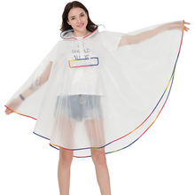 Fashion EVA Transparent Raincoat Women Mens Bicycle Motorcycle  Waterproof Rain Coat Poncho rainwear chubasquero