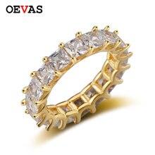 Oevas женское роскошное обручальное кольцо Вечность с цирконом