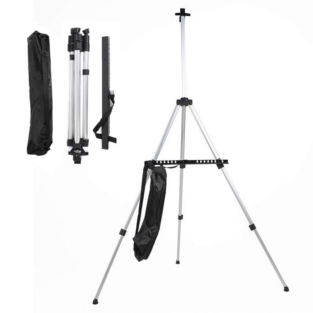 JSES Adjustable Aluminum Sketch Display Easel Stand Painting Easel For Artist Art Tools
