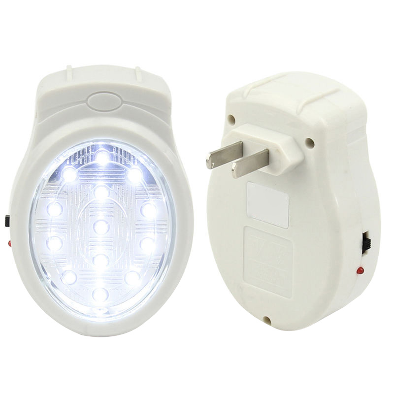 13LED Rechargeable Home Wall Emergency Light Power Failure Lamp Bulb US 110-240V VC495 T30