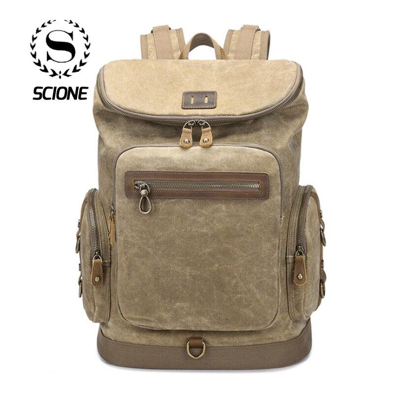 Popular Brand Nesitu High Quality Large Capacity Vintage Brown Genuine Leather Men Backpacks Crazy Horse Leather Mens Travel Bags M8062 Men's Bags