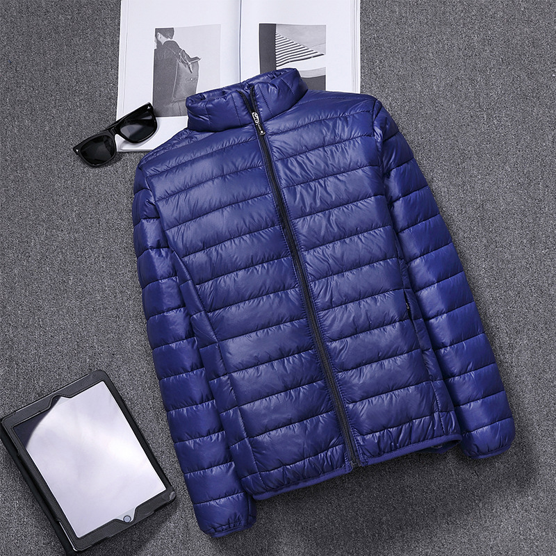 Shiny Men   Down     Coats   UITRA LIGHT sweetheart solid   Down   Jacket Male Winter Fashion plus size Outerwear XXL XXXL XXXXL XXXXXL