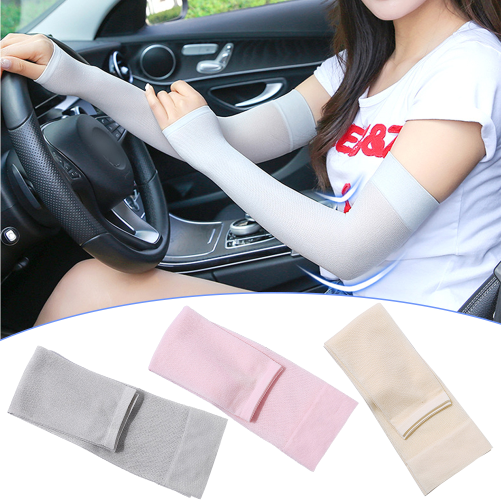 3 Pairs Of UV Protection Sleeve Stretchy Arm Cover Breathable Elbow Protector Elastic Elbow Brace Sun Protection(Random Color)