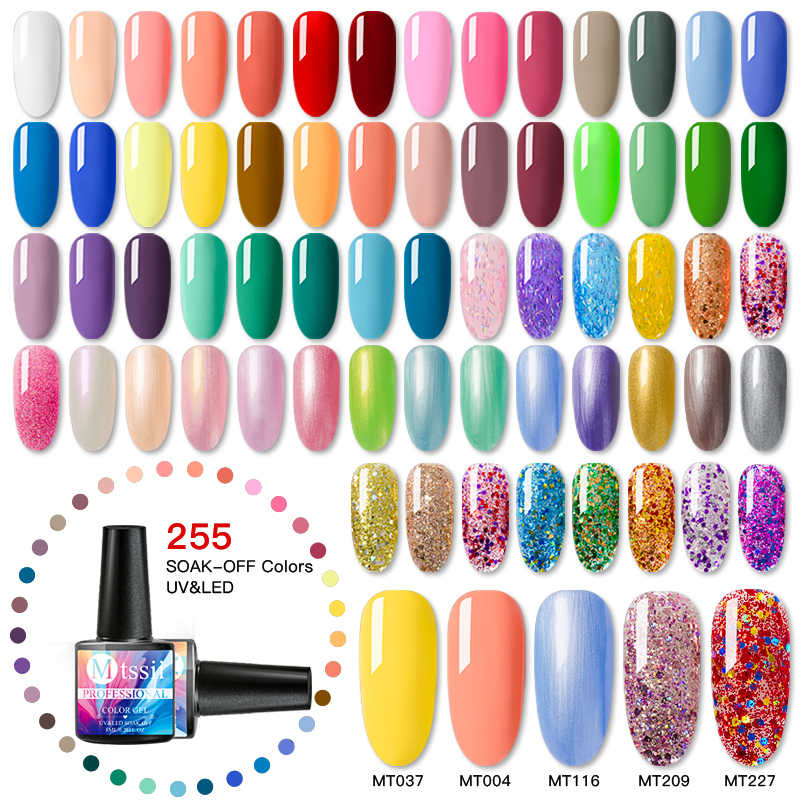 Mtssii 8 Ml Uv Gel Nail Polish 255 Warna untuk Manikur Semi Permanen Lacquer LED Gel Varnish SOAK Off Nail seni Gel Cat Kuku