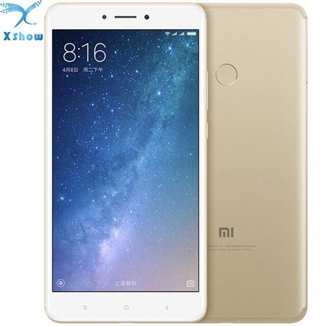 Oryginalny Xiaomi Mi xiaomi max 2 Snapdragon625 Max2 Linii Papilarnych ID LTE FDD octa Rdzeń 4G 12MP 6.44 1080 P telefony Komórkowe