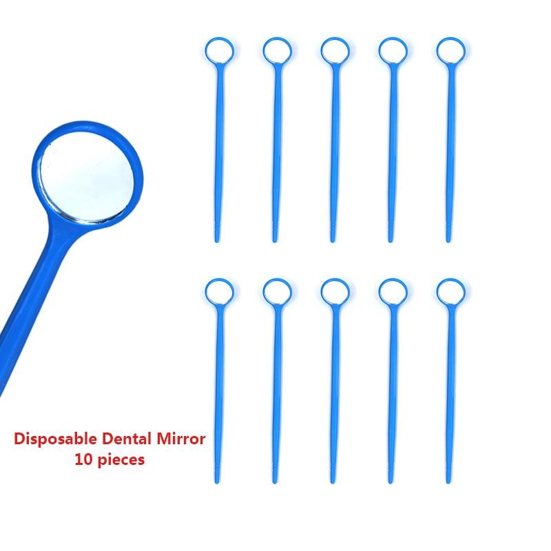 Plastic Dental Mirror 10 Pcs Disposable Dental Mirror 3 Colors Dental Mouth Mirror Dentist Dental Tools For Teeth Whitening