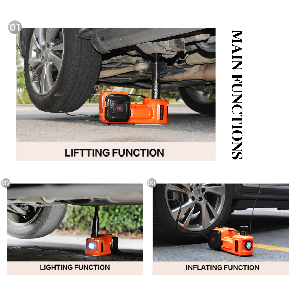 US $139 62 22% OFF|Car Electric Jack SUV Jacks Hydraulic Floor Impact  Wrench 45MM 12V 5 Ton Lift Auto Emergency Tire Change Lifting Repair Tool  on