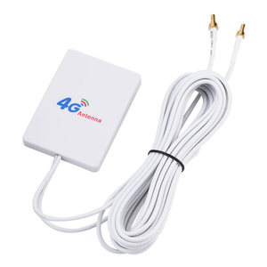 Image 2 - Double White SMA Signal Amplifier Network External Cable Broadband Aerial Vertical WIFI TS 9 Connector LTE Antenna 28DBI 4G 3G
