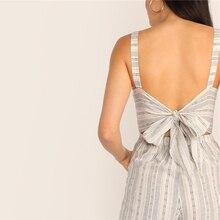 Women's Button Striped Jumpsuit