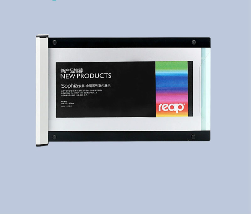 Acrylic Cover 297*120mm Horizontal Wall Mount Sign Holder Picture Photo Poster Display Door Signage Frame Indicator Label Case
