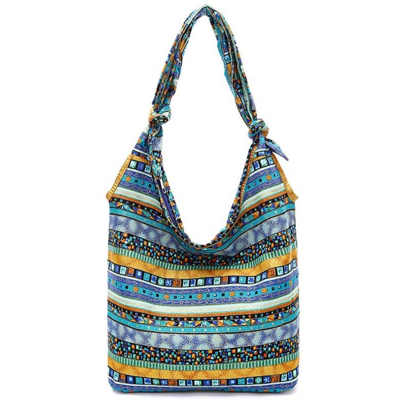 Casual Shoulder Bags Floral Printing Cotton Reusable Shopper Bag Women Grocery Bolsas De Tela Canvas Crossbody Torba Na Zakupy
