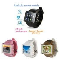 Android 4.1.1 смарт-часы an1 MTK6515 наручные TF sim-карты Мобильные телефоны с fm Компасы GPS Wi-Fi 2.0mp Камера PK S8 dm98