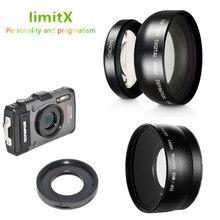 0,45 X Super Weitwinkel Objektiv mit Makro & Adapter ring für Olympus TG 6 TG 5 TG 4 TG 3 TG 2 TG 1 TG6 TG5 TG4 TG3 TG2 TG1 Kamera
