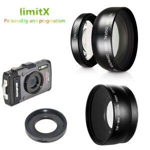 Image 1 - 0.45X Siêu Góc Rộng Ống Kính Macro & Adapter Ring Cho Olympus TG 6 TG 5 TG 4 TG 3 TG 2 TG 1 TG6 TG5 TG4 TG3 TG2 TG1 Camera