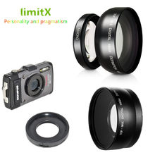 0.45X Lente Super Grande Angular com Macro & anel Adaptador para Olympus TG-6 TG-5 TG-4 TG-3 TG-2 TG-1 TG6 TG5 TG4 TG3 TG2 TG1 Câmera